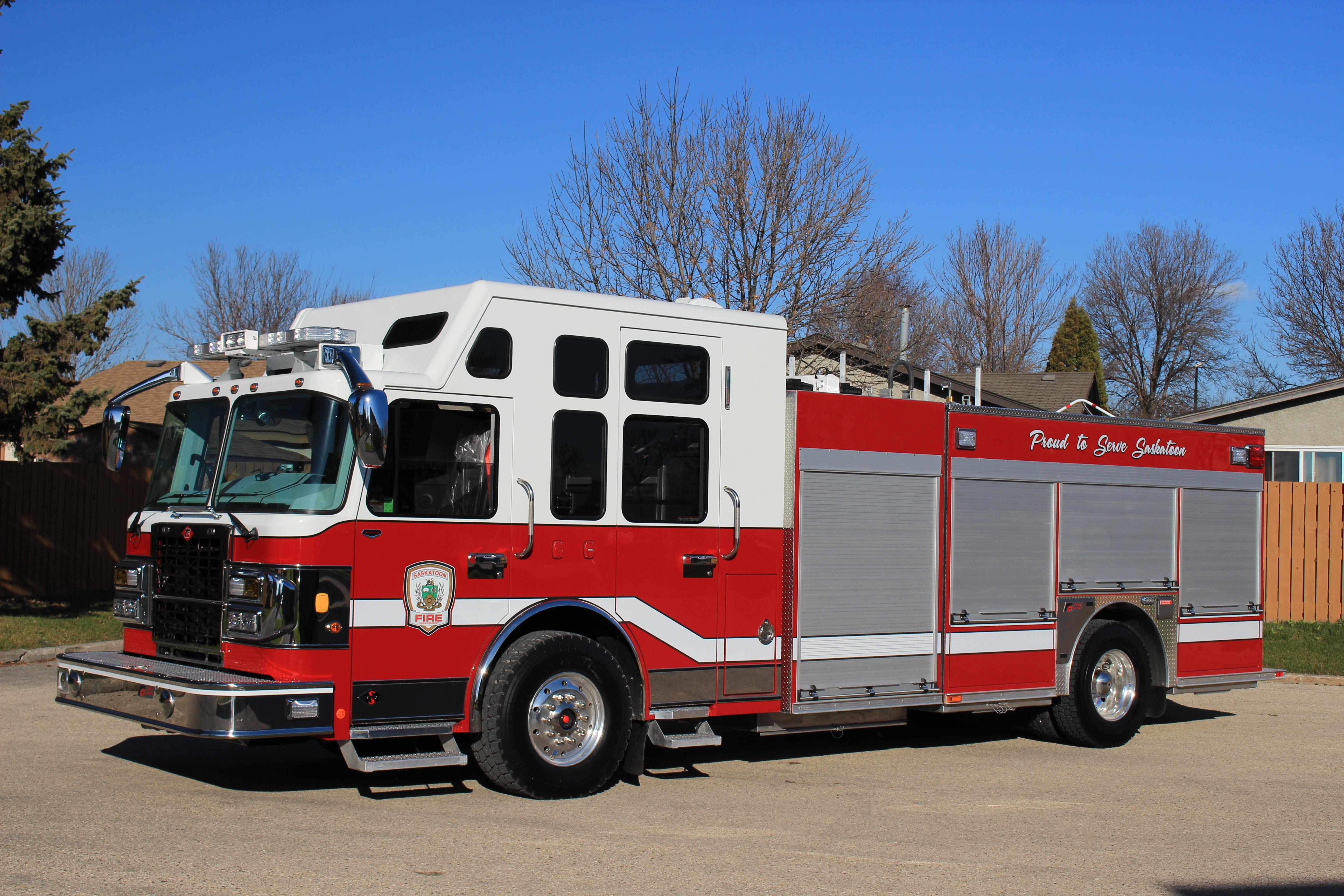 Saskatoon Fire Department Fort Garry Fire Trucks Fire