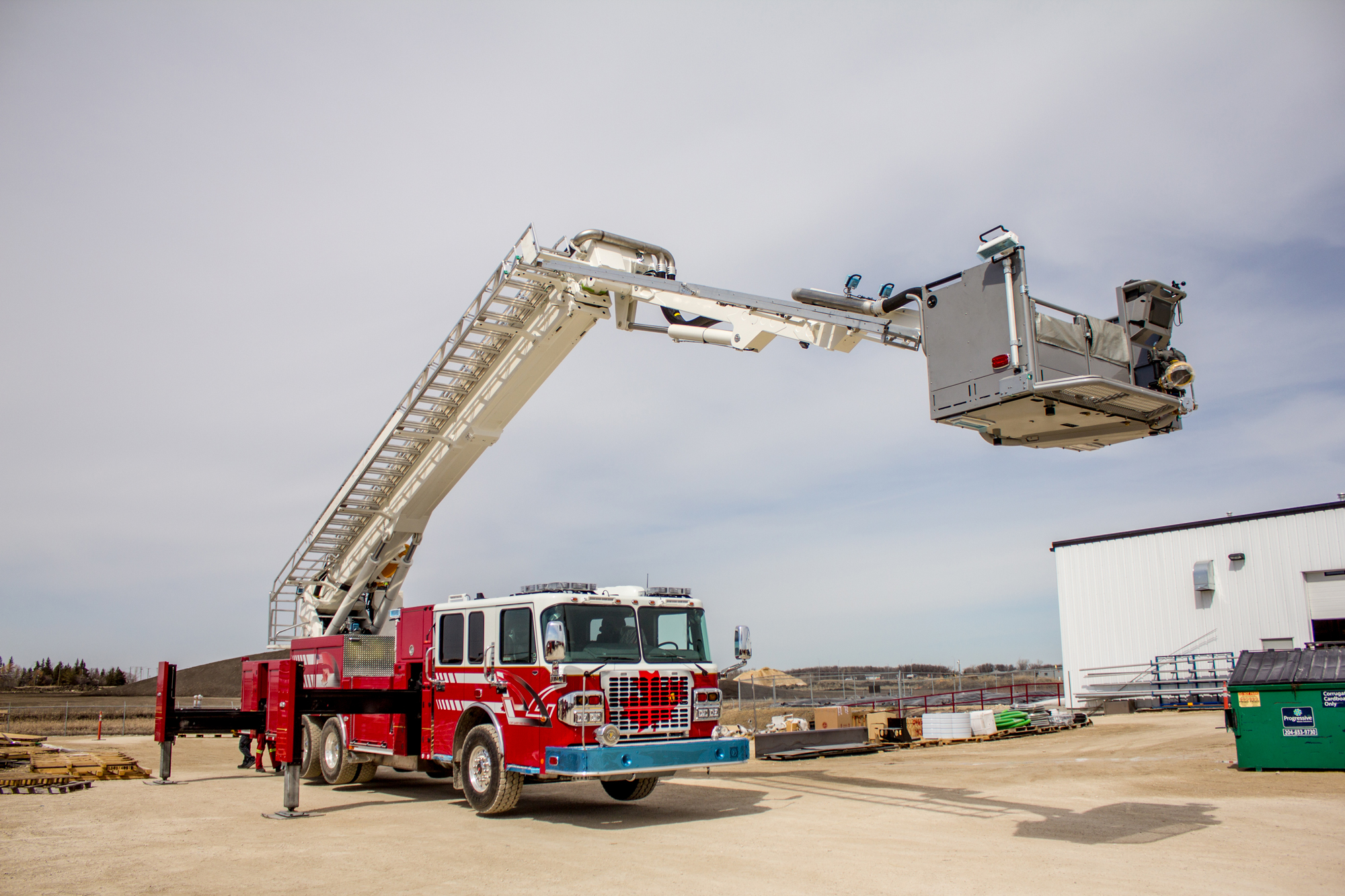 Bronto Skylift F 116rlp Demo Unit Testing Fort Garry